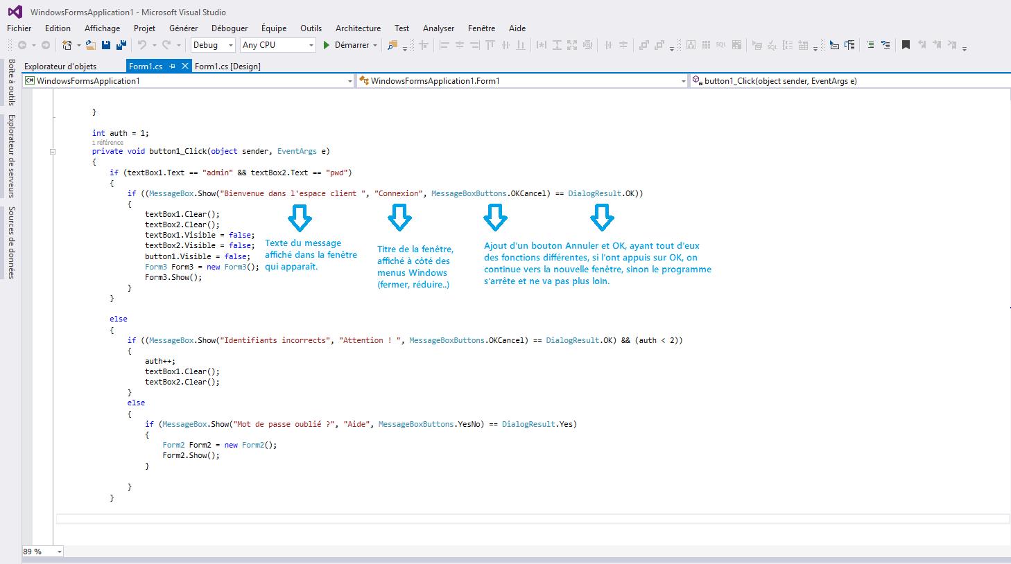 MessageBox en détail