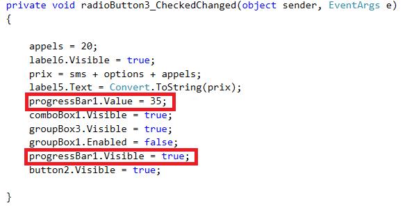 Utiliser une ProgressBar en C#