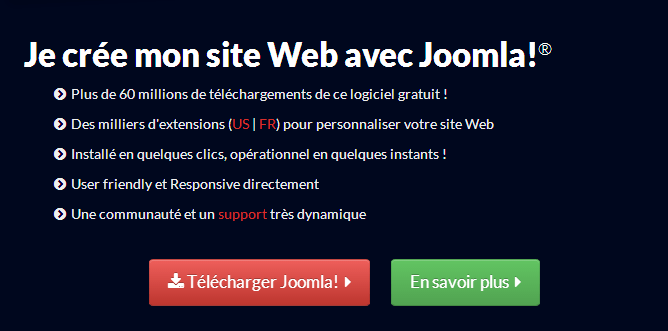 Installation de Joomla