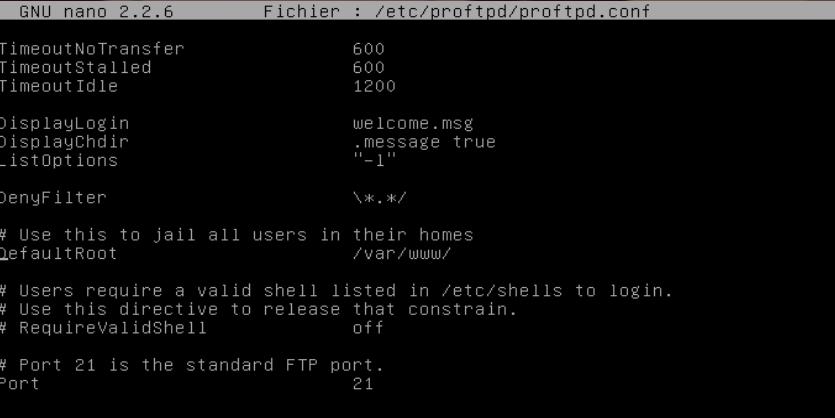 Installer un service FTP