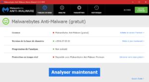 Analyse complète avec Malwarebytes Anti-Malware