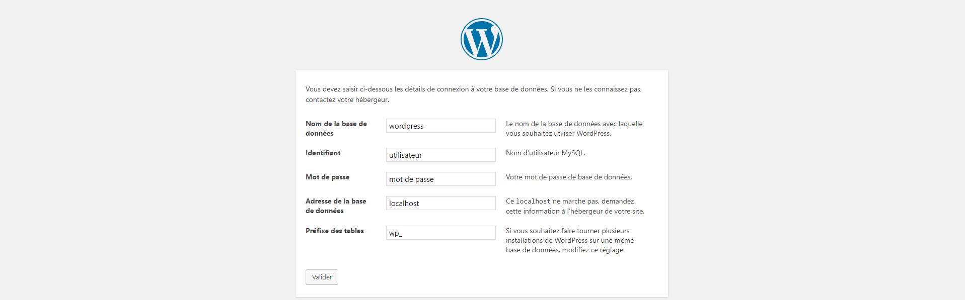 WordPress - Configurer l'installation