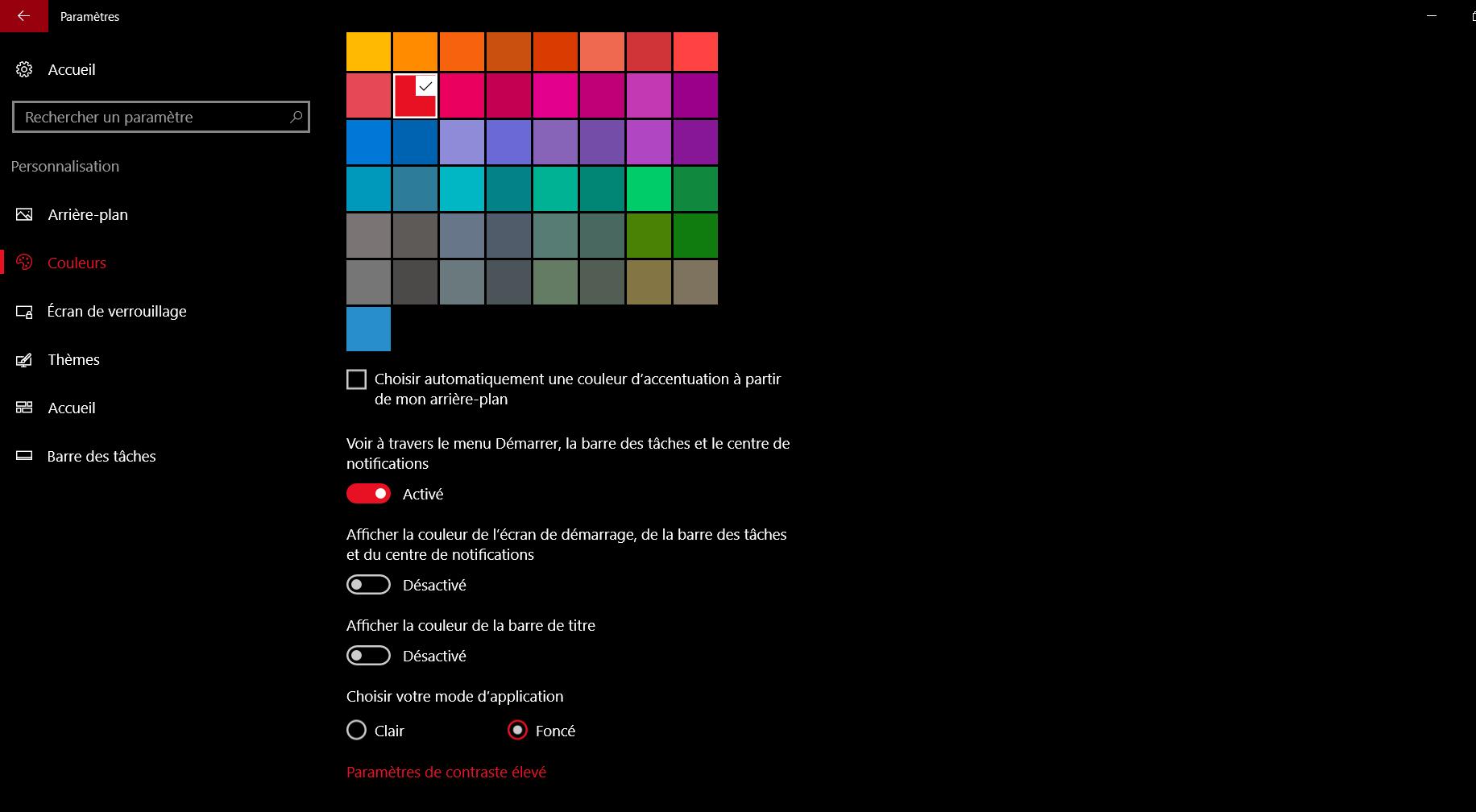 Activer le thème sombre grâce au registre Windows