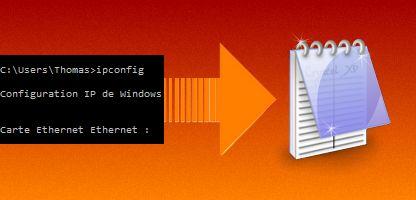 Enregistrer le résultat d'une commande dans un fichier en Batch