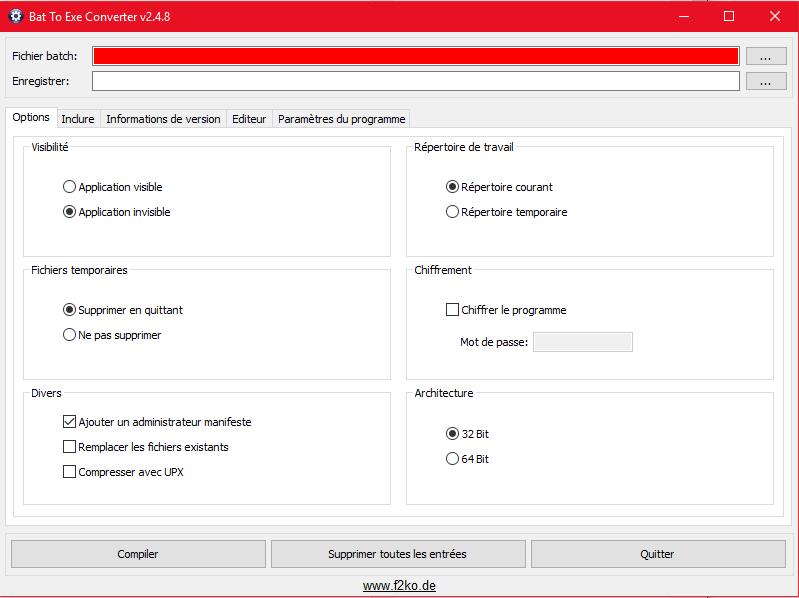 Convertir un fichier .BAT en exécutable .EXE