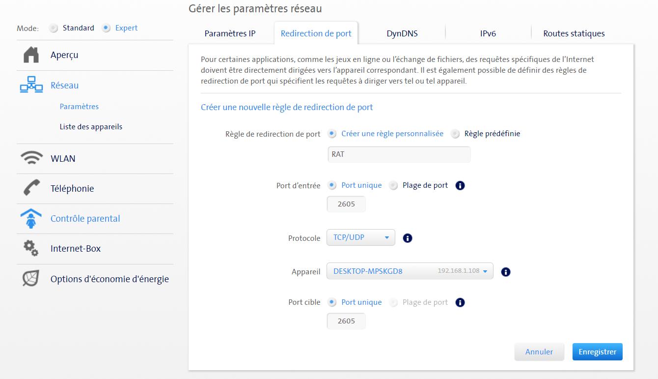Ouvrir ses ports internet - Swisscom