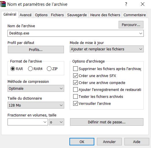 Crypter un RAT pour réduire sa détection - WinRAR 3