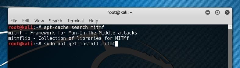Installer MITMf