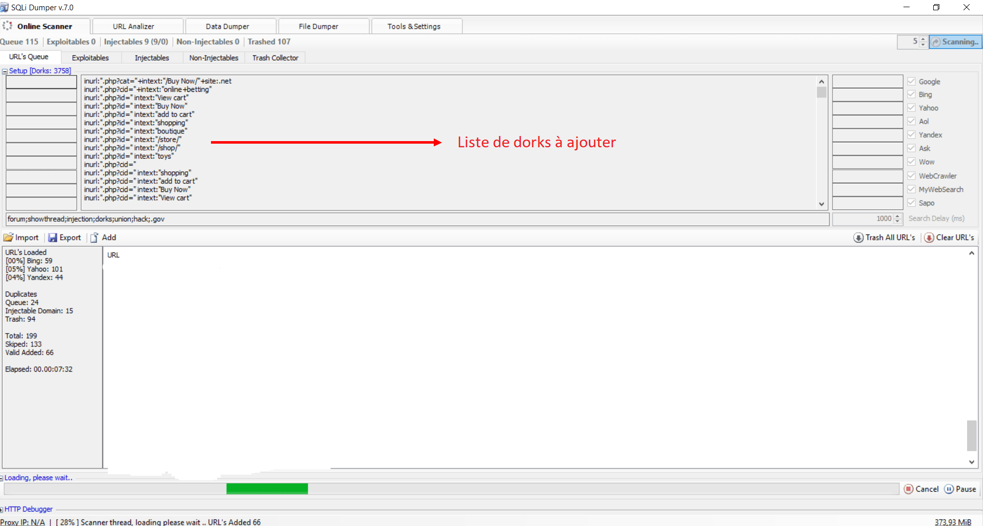Comment utiliser SQLI DUMPER