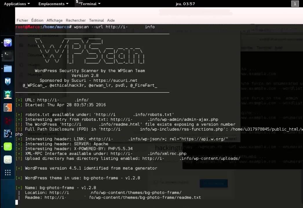 comment utiliser WPScan