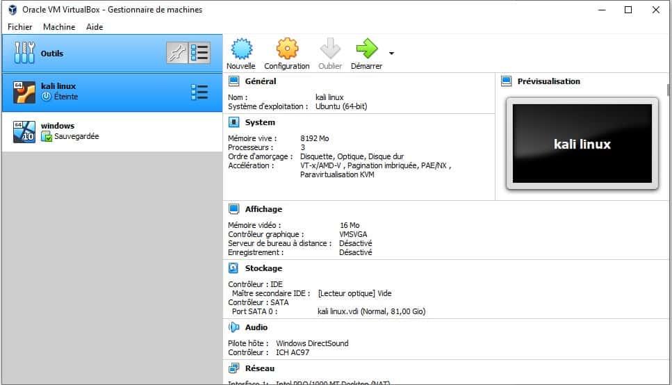 Installer Kali Linux dans une VM 3